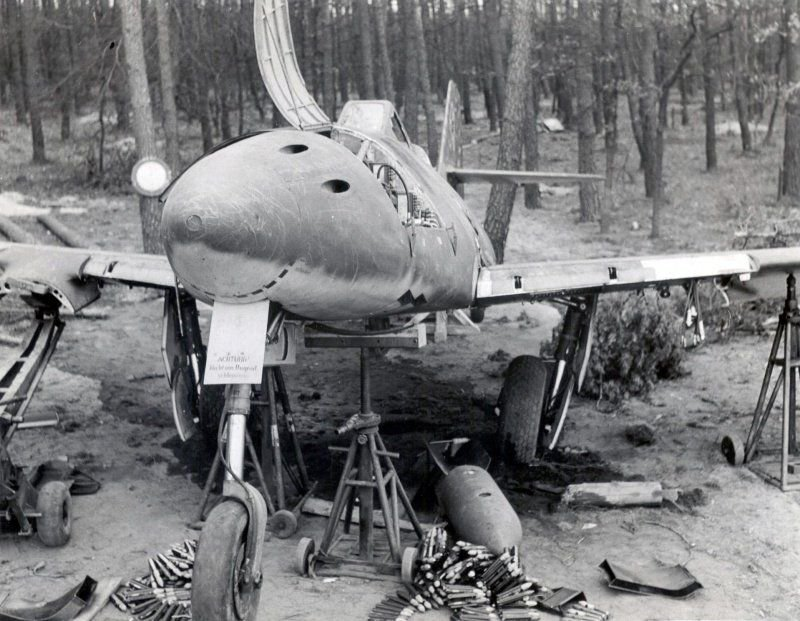 Abandoned Me-262 after the war